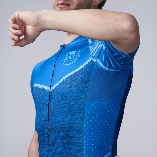 blauw wielrenshirt