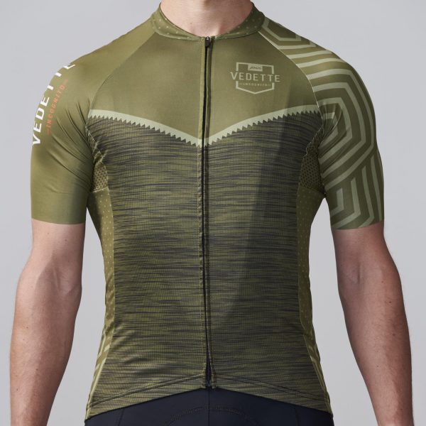olive cycling jersey
