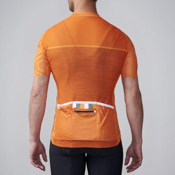 orange cycling jersey